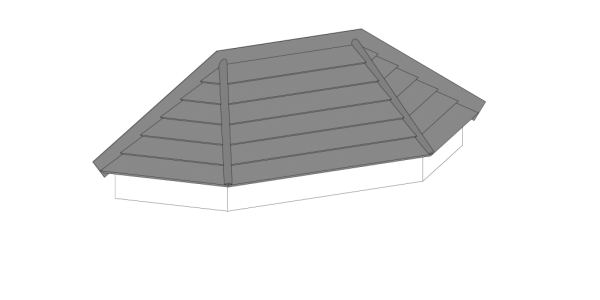 Hipped Entrance Canopy